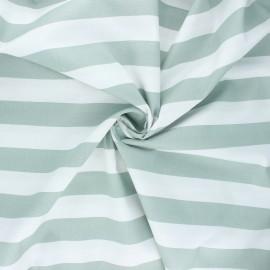 Poppy poplin cotton fabric - sage green Stripe x 10cm