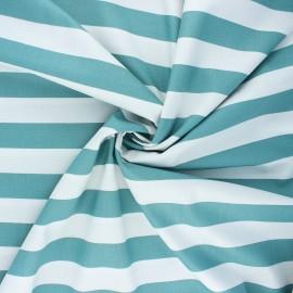 Poppy poplin cotton fabric - eucalyptus Stripe x 10cm