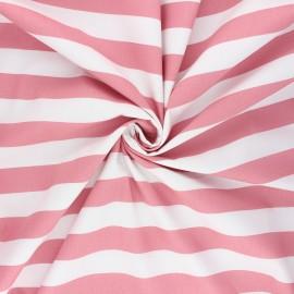 Poppy poplin cotton fabric - rosewood Stripe x 10cm