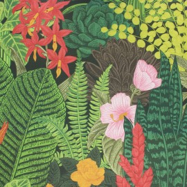 Tissu toile transat Dralon® Amazonia - vert x 10cm