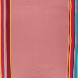 Tissu toile transat Playa Palavas - vieux rose x 10cm