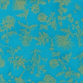 Tissu Field Notes Metallic Turquoise x 10cm