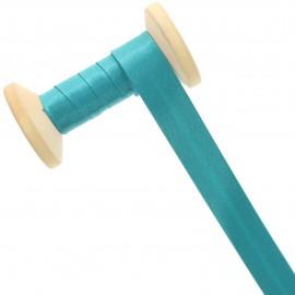 Biais Satin 20 mm - bleu acapulco - Bobine de 25 m