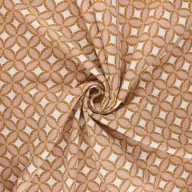 Poppy double gauze fabric - pink Retro feeling x 10cm