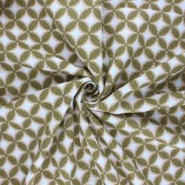 Poppy double gauze fabric - khaki Retro feeling x 10cm