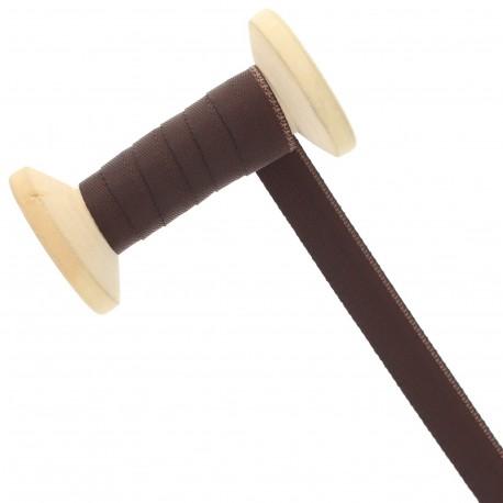 15 mm Seam Binding Ribbon Roll - Brown