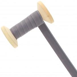 Ruban Talonnette 15 mm - gris foncé - Bobine de 25 m