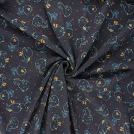 Tissu jersey Poppy Dino - gris foncé x 10cm