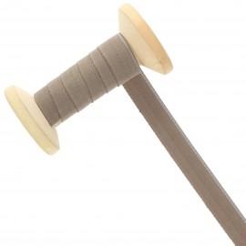 Ruban Talonnette 15 mm - taupe - Bobine de 25 m