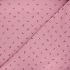 Tissu jersey Swallow dance - rose x 10cm