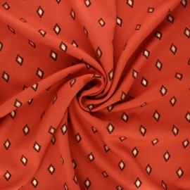 Radiance by Penelope® viscose fabric - rust Catarina x 10cm