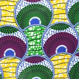 Tissu wax Huambo - vert x 10cm