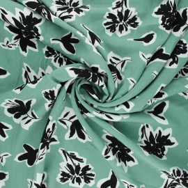 Radiance by Penelope® viscose fabric - sage green Isaura x 10cm