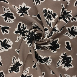 Radiance by Penelope® viscose fabric - taupe Isaura x 10cm