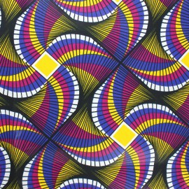 Wax print fabric - purple Kuito x 10cm