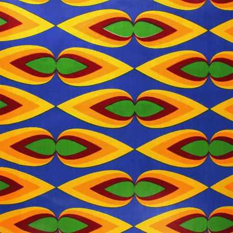 Wax print fabric - blue Bacana x 10cm