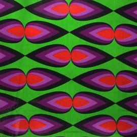 Wax print fabric - green Bacana x 10cm
