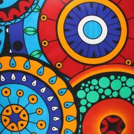 Wax print fabric - rouge Mucari x 10cm