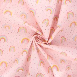 Poppy poplin cotton fabric - pink Rainbow x 10cm
