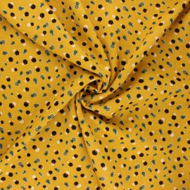 Viscose fabric - mustard yellow Nuray x 10cm