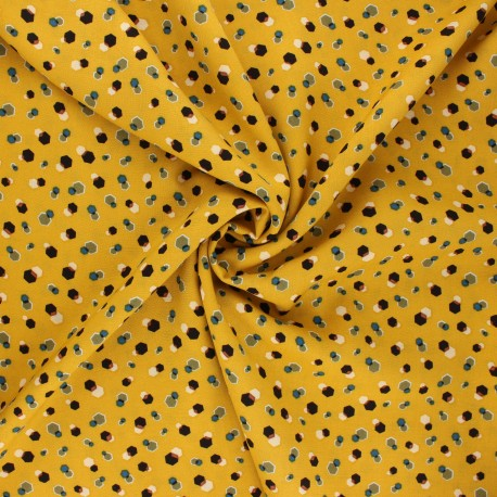 Viscose fabric - mustard yellow Nuray x 10cm