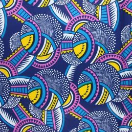 Wax print fabric - blue Malanje x 10cm