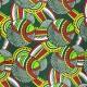 Wax print fabric - green Malanje x 10cm
