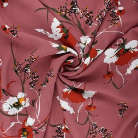 Viscose Fabric - rosewood Morelia x 10cm