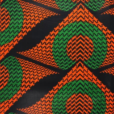 Wax print fabric - orange Namibe x 10cm