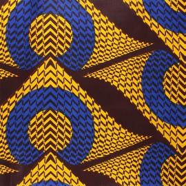 Tissu wax Namibe - jaune x 10cm