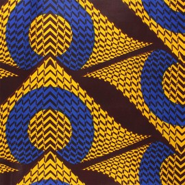 Wax print fabric - yellow Namibe x 10cm