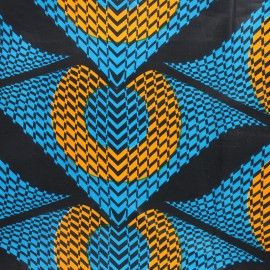 Wax print fabric - blue Namibe x 10cm