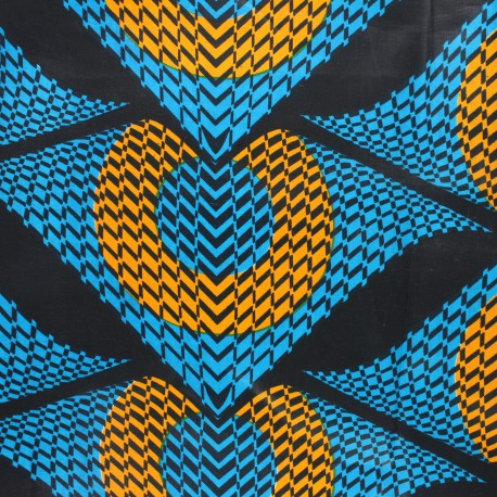 Wax print fabric - blue Namibe x 10cm