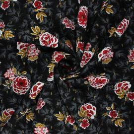 Lurex viscose fabric by Penelope® - black Lucilia x 10cm