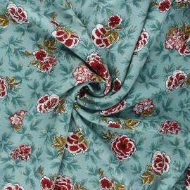 Lurex viscose fabric by Penelope® - sage green Lucilia x 10cm