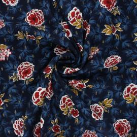 Lurex viscose fabric by Penelope® - night blue Lucilia x 10cm
