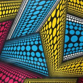 Wax print fabric - pink Dundo x 10cm