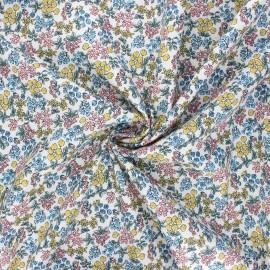 Poppy poplin cotton fabric - white I smell the spring x 10cm