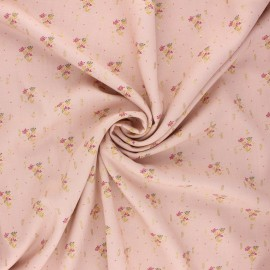 Lurex viscose fabric by Penelope® - water pink Judite x 10cm