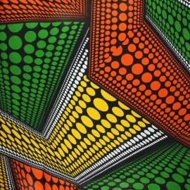Tissu wax Dundo - orange x 10cm