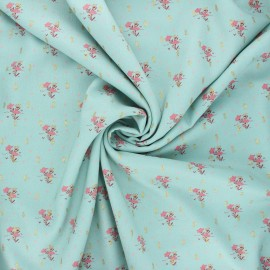 Lurex viscose fabric by Penelope® - sage green Judite x 10cm