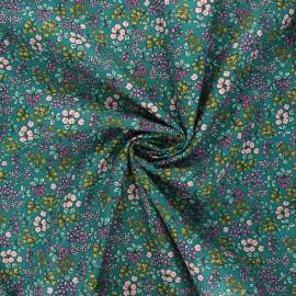 Poppy poplin cotton fabric - dark green I smell the spring x 10cm