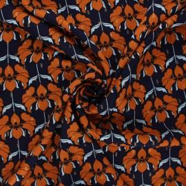 Lurex viscose fabric by Penelope® - night blue Brunelle x 10cm