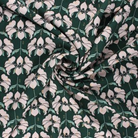 Lurex viscose fabric by Penelope® - pine green Brunelle x 10cm