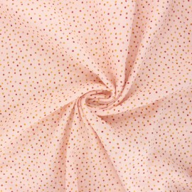 Poppy double gauze fabric - blush pink Sweet dots x 10cm