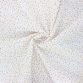 Poppy double gauze fabric - raw Sweet dots x 10cm