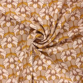 Lurex viscose fabric by Penelope® - sand Brunelle x 10cm