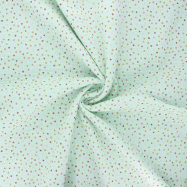 Poppy double gauze fabric - mint Sweet dots x 10cm