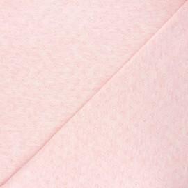 Openwork jersey fabric - mottled light pink Diamond x 10cm