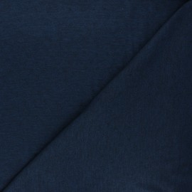 Openwork jersey fabric - mottled night blue Diamond x 10cm